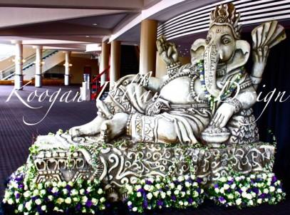 A Ganesha sculpture