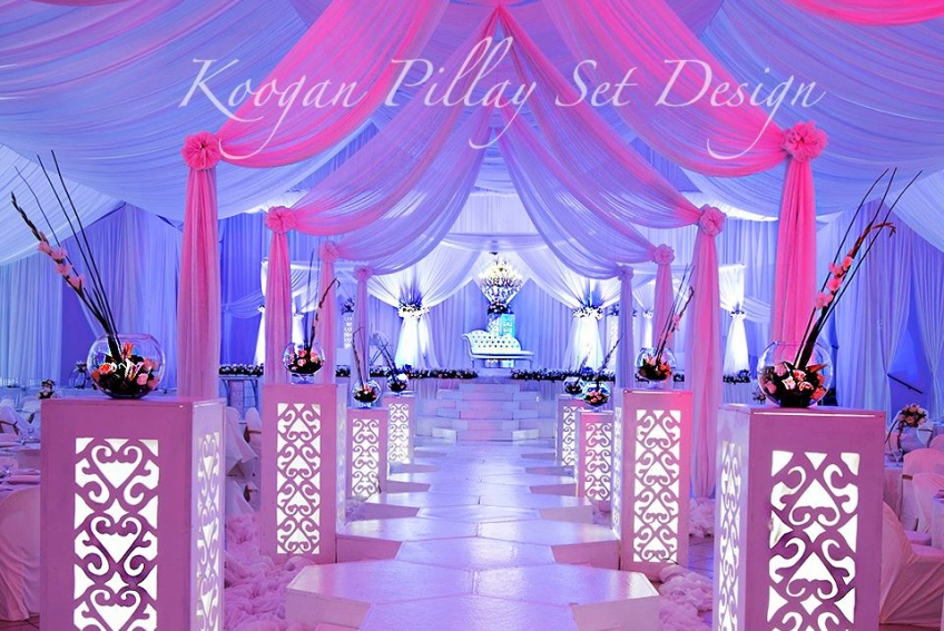 Koogan pillay wedding decor durban indian wedding decor hire elegant draping thecheapjerseys Image collections